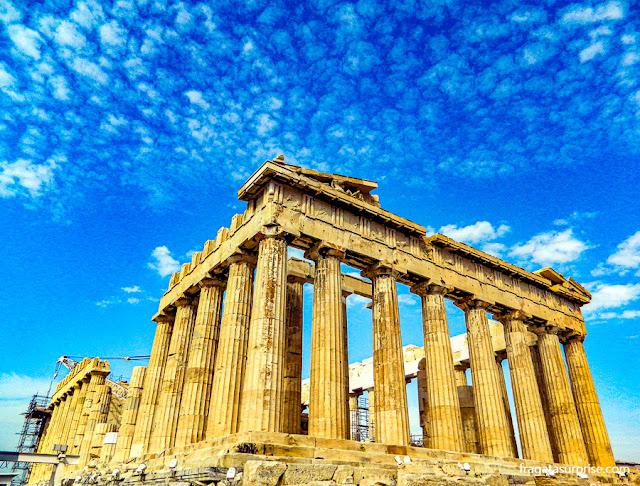 Partenon, templo dedica à deusa Atena na Acrópole de Atenas