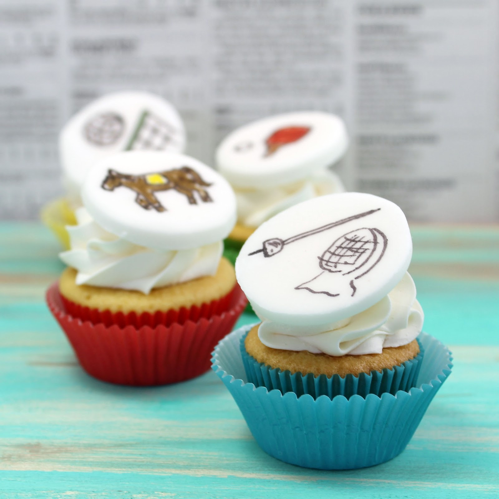 Olympic Cupcakes Recipe - via BirdsParty.com