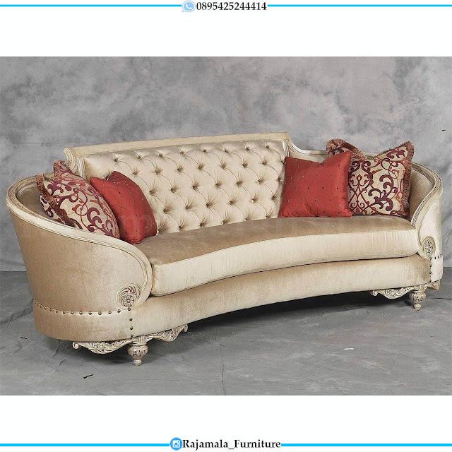 Kursi Sofa Tamu Mewah Ukiran Classic Elegant Style Furniture Jepara RM-0608