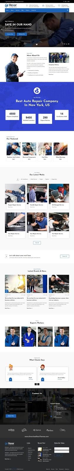 Auto Mechanic WordPress Theme