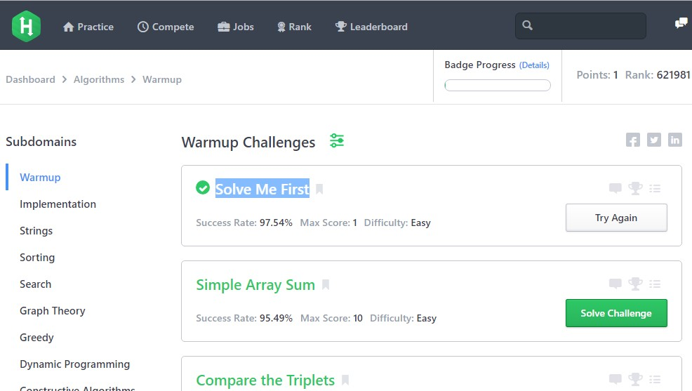 Hackerrank solution Simple Array Sum - Solution in C