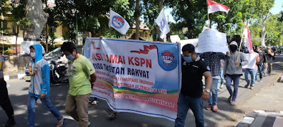 KSPN NTB Bawa 3 Tuntutan Rakyat ke Kantor Gubernur