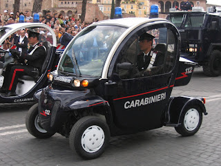 Carabinieri patrols use vehicles of all shapes and sizes