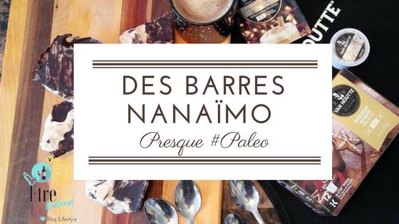 Des barres Nanaïmo presque #paleo au café #LesFêtesVanHoutte