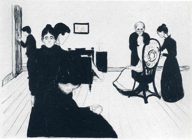 Эдвард Мунк - Комната умирающего. 1896