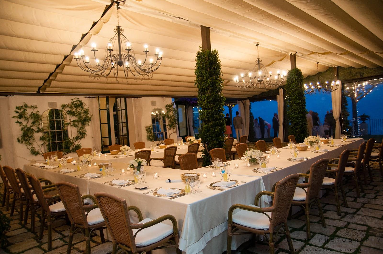 Wedding reception at Villa Eva in Ravello