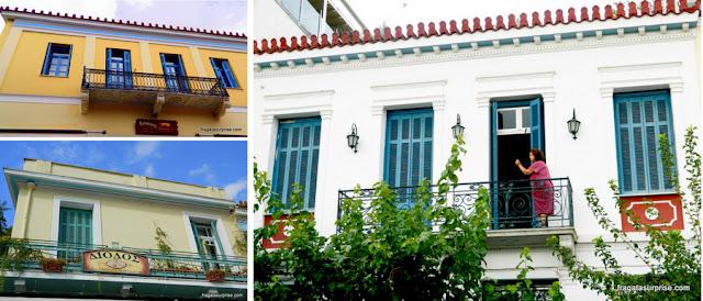 Fachadas do bairro de Thisio, Atenas