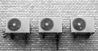 Air Conditioners on Wall (Credit: energyathaas.wordpress.com) Click to Enlarge.