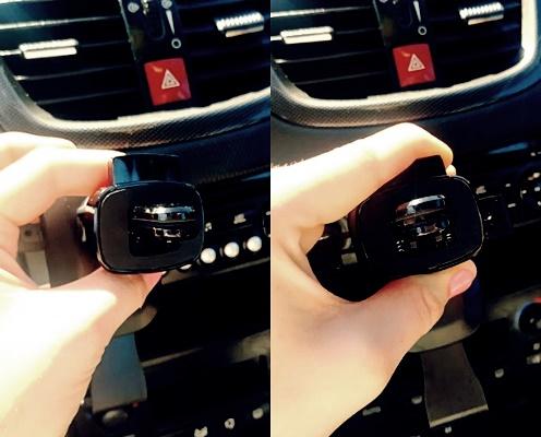 Jak wygląda zacisk przy uchwycie samochodowym