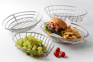 stainless steel basket, bread basket, fruit basket