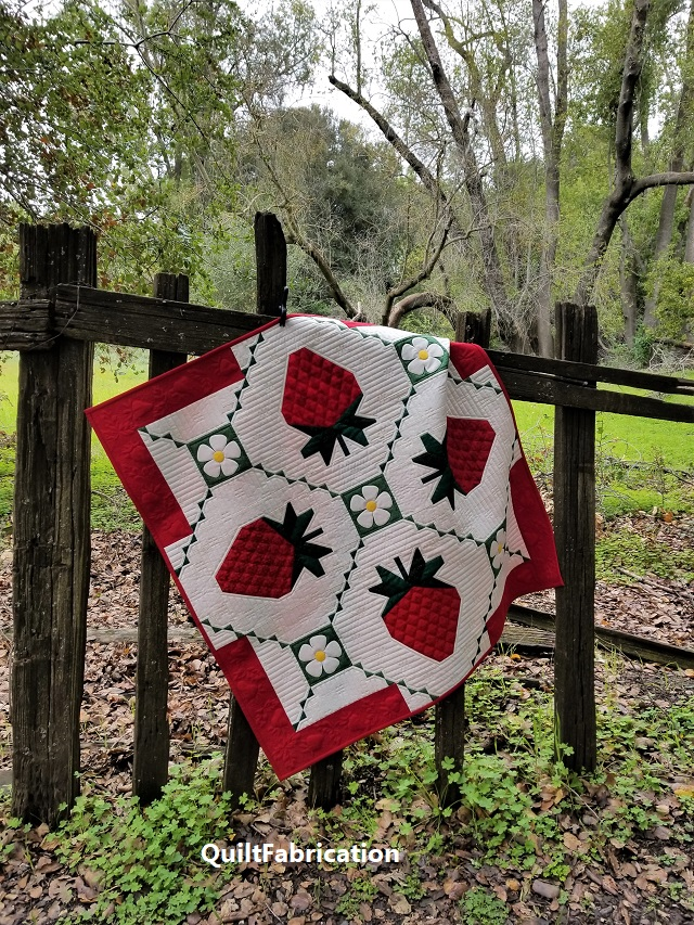 Strawberry Splendor quilt