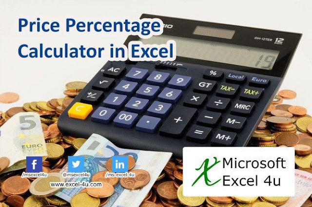 Price Percentage Calculator in Excel