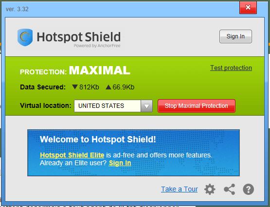 برنامج  VPN Hotspot Shield ل تغيير الايبي