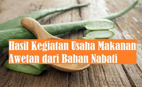 Hasil Kegiatan Usaha Makanan Awetan Dari Bahan Nabati