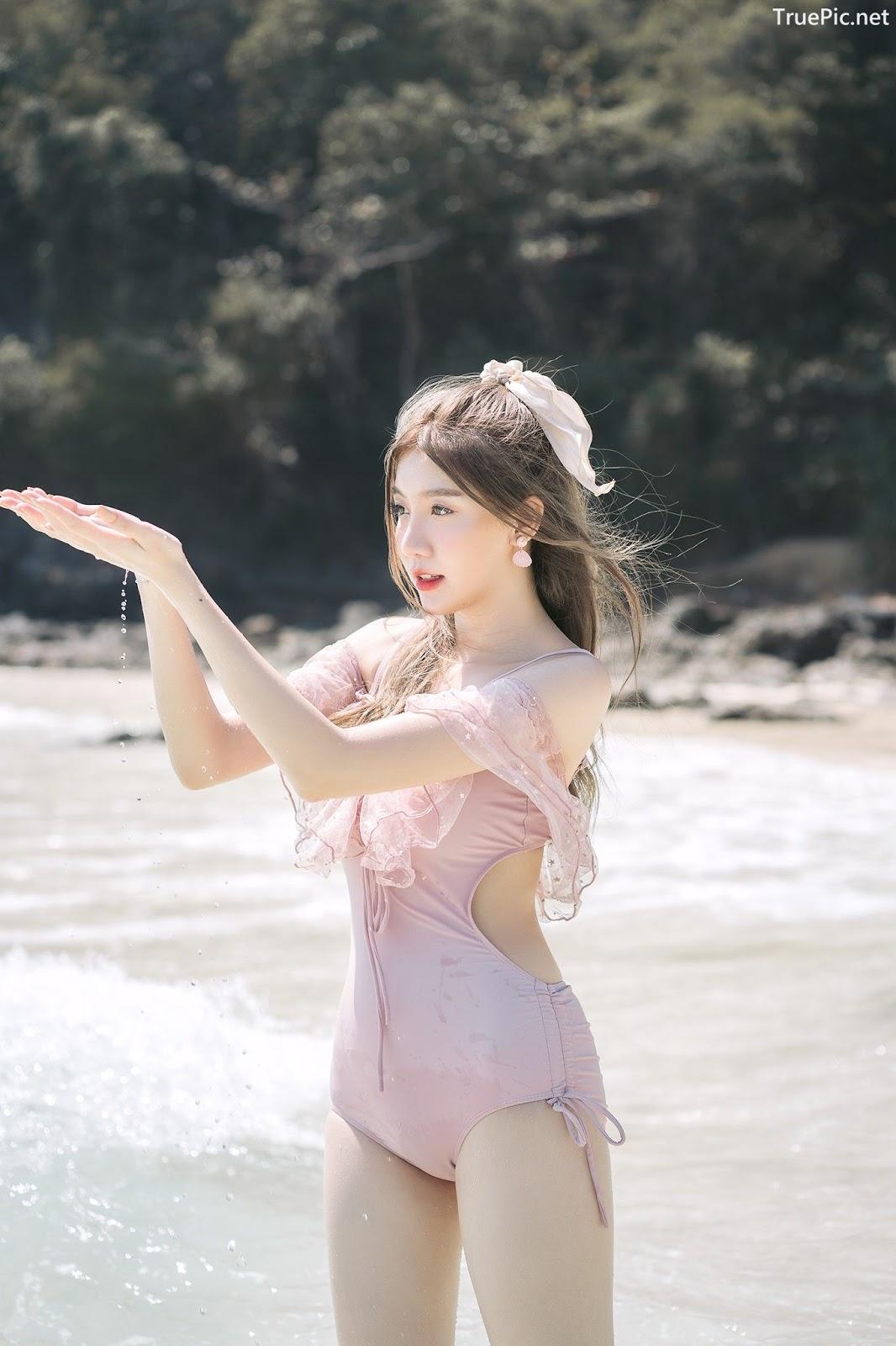 Image Thailand Model - Sasi Ngiunwan - Pink Monokini - TruePic.net - Picture-7