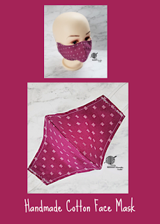 Handmade Cotton Face Mask Merlot Berry Print