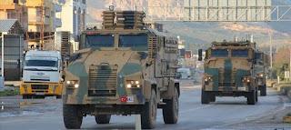 الجيش التركي يرسل تعزيزات ضخمة إلى الحدود مع سوريا