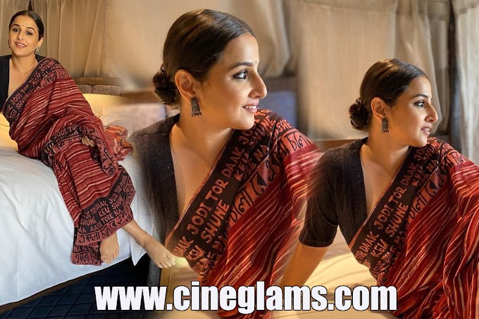 Actress Vidya Balan new saree photoshoot