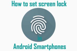How to set screen lock on Android Devices