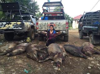 Kumpulan Foto Irene Farah Diba dengan Hewan hasil Buruan