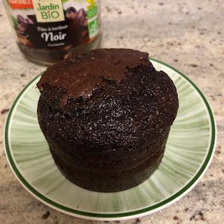 Gâteau individuel à la pâte à tartiner Noir de jardin BIO