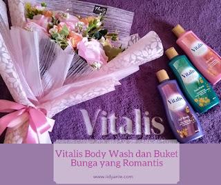 vitalis body wash dan buket bunga