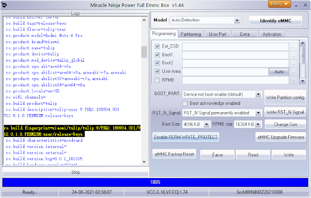 Miracle Ninja eMMC Box Version 1.45