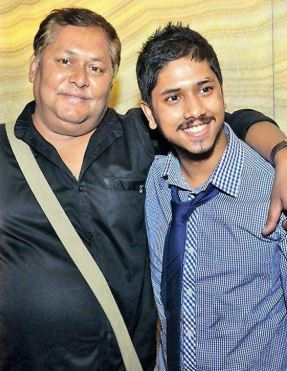 Kharaj Mukherjee with Son Bihu