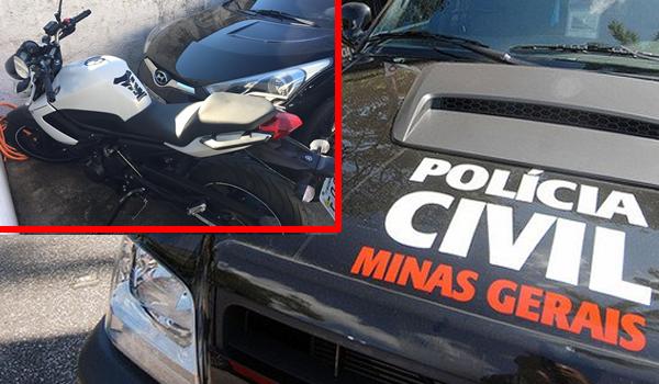 Moto dublê tomada de assalto em Mogi Mirim é apreendida pela Polícia Civil de Andradas,MG