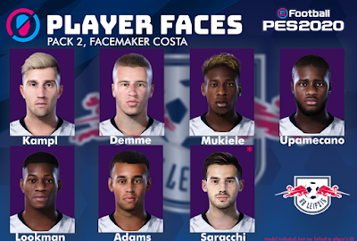 PES 2020 Facepack V2 RB Leipzig by Costa