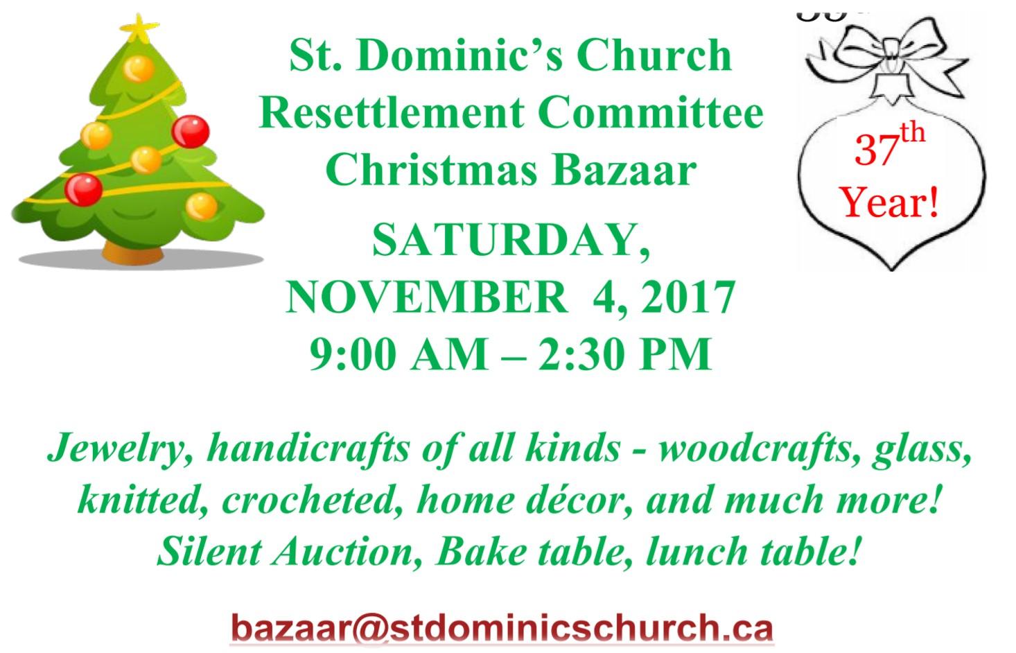 st dominics christmas bazaar 2017