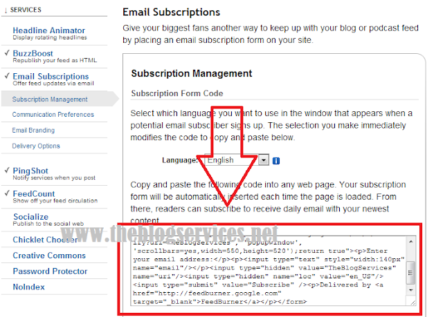 How to Add Subscription Box for Blogger Blogs Powered by