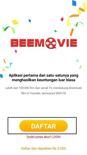 Cara daftar di Aplikasi BeeMovie