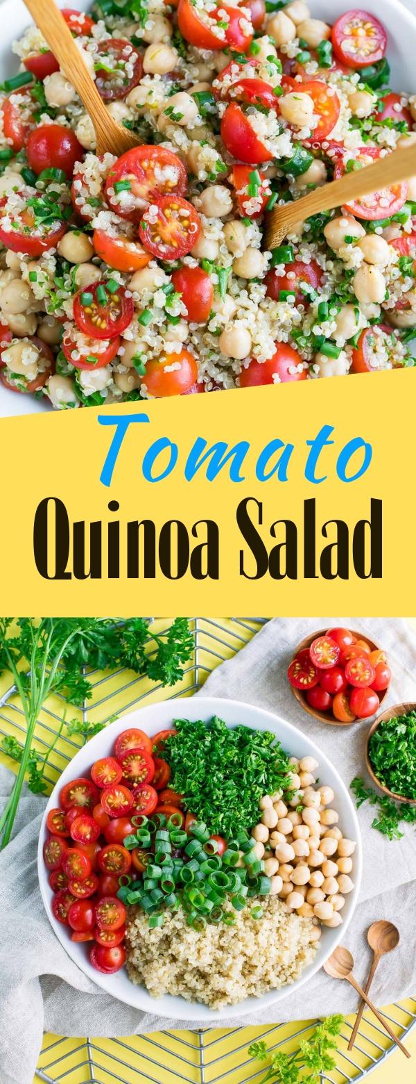 Tomato Quinoa Salad #tomato #salad #vegan #healthy #healthyfood