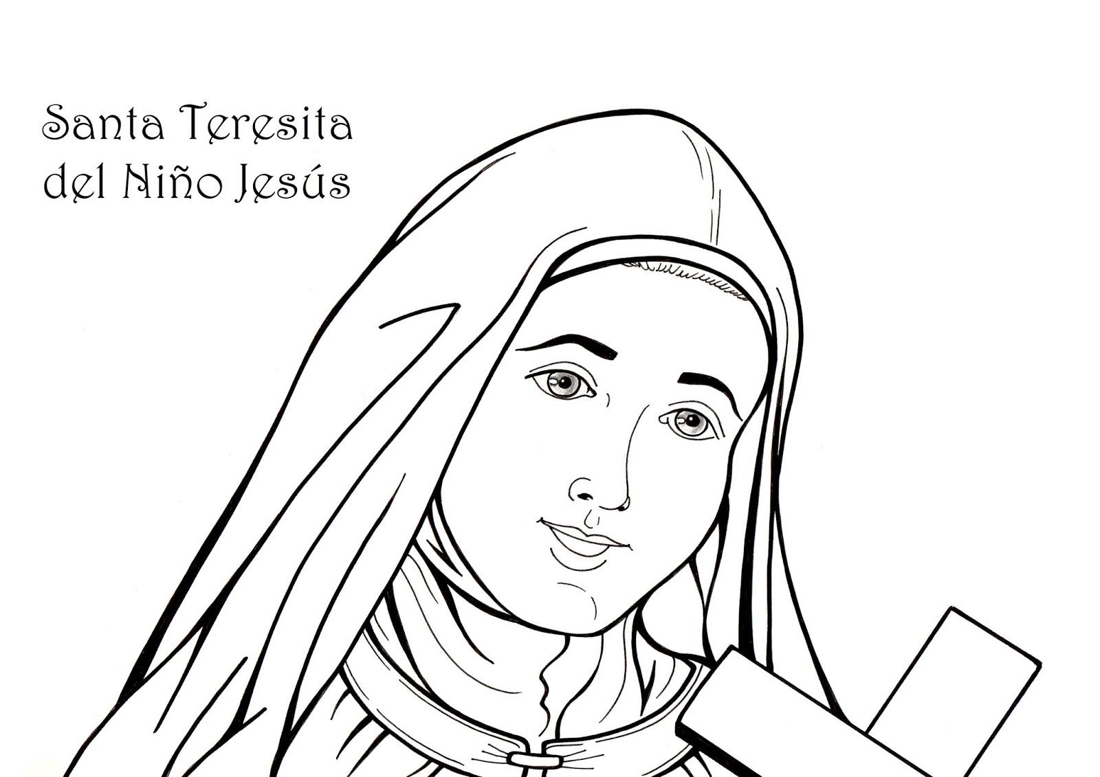 El Rincón de las Melli: LÁMINA: Santa Teresita del Niño Jesús
