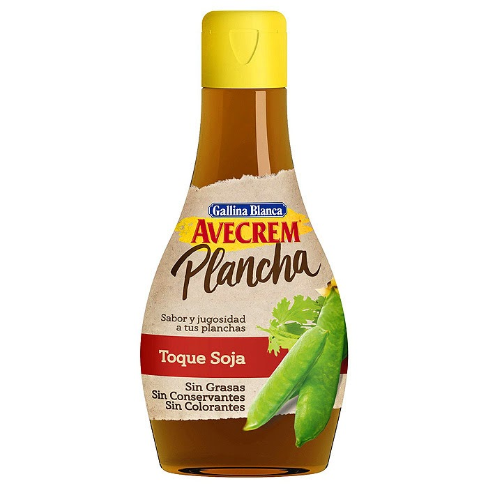 Ingredientes - Avecrem Plancha Toque Soja