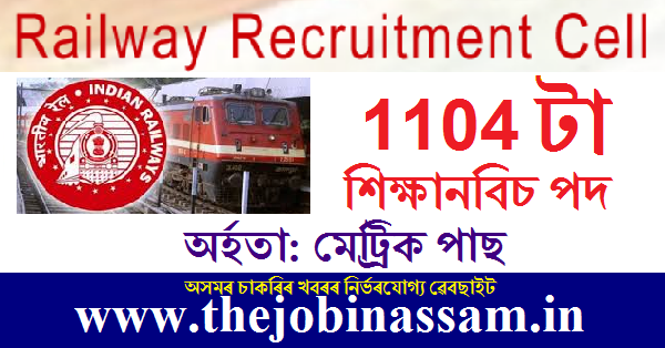 RRB Recruitment 2019: Apply Online for 1104 Apprentice Posts for 10th pass