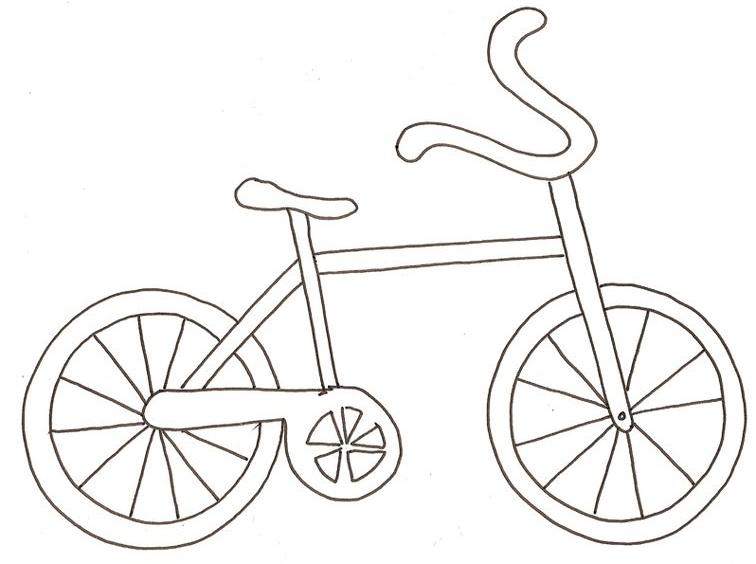 Hình tô màu xe đạp đơn giản