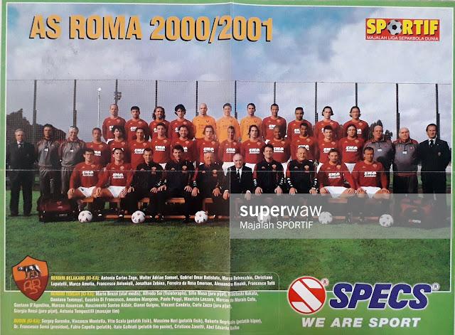 FULL TEAM AS ROMA SQUAD 2000/2001