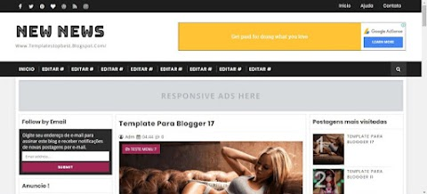 New News Blogger Template
