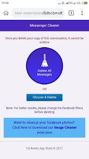 cara hapus pesan messenger secara cepat