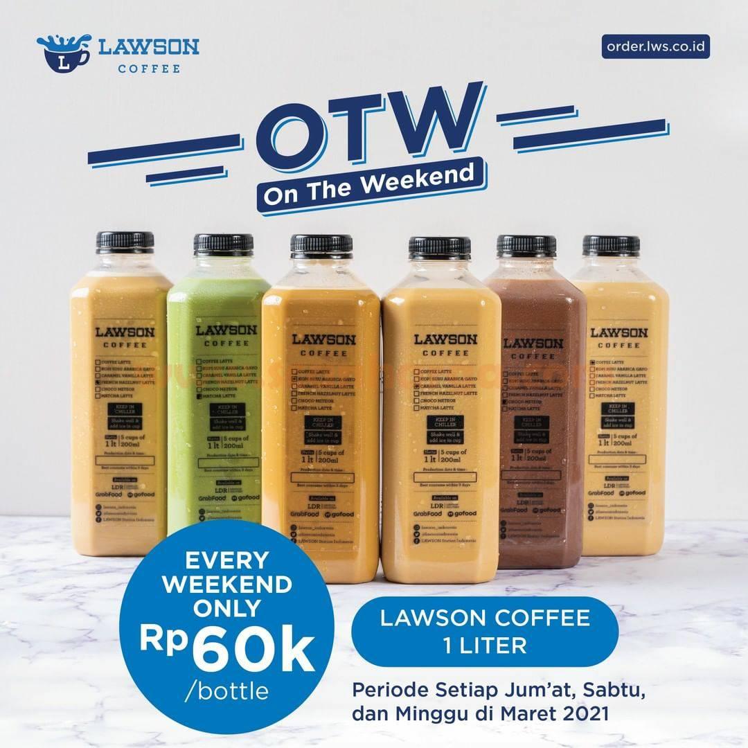 Lawson Promo OTW On The Weekend! Lawson Coffee 1 Liter cuma 60K per botol
