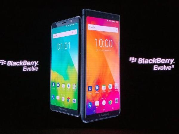 BlackBerry Evolve, Evolve X With 4000mAh Batteries, Android 8.1 Launched in India: Price, Specifications