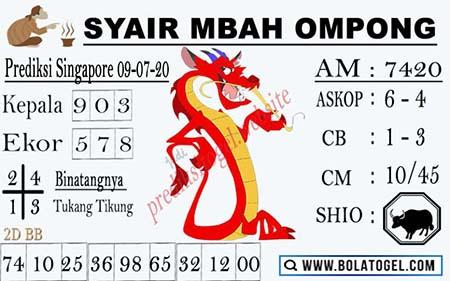 Syair Mbah Ompong SGP Kamis