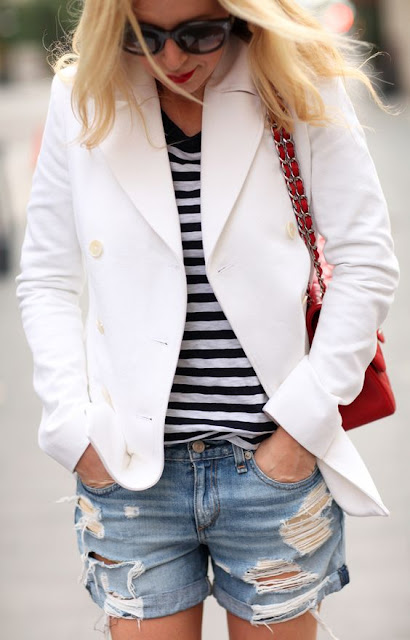 striped-tee-cutoffs-blazer-summer