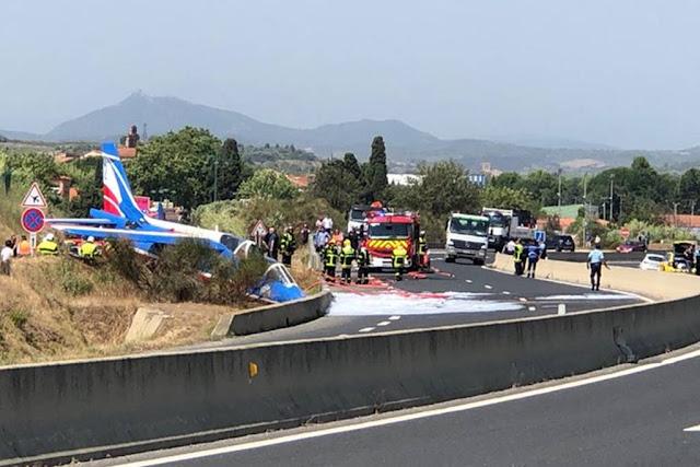 Patrouille France Alphajet accident Perpignan