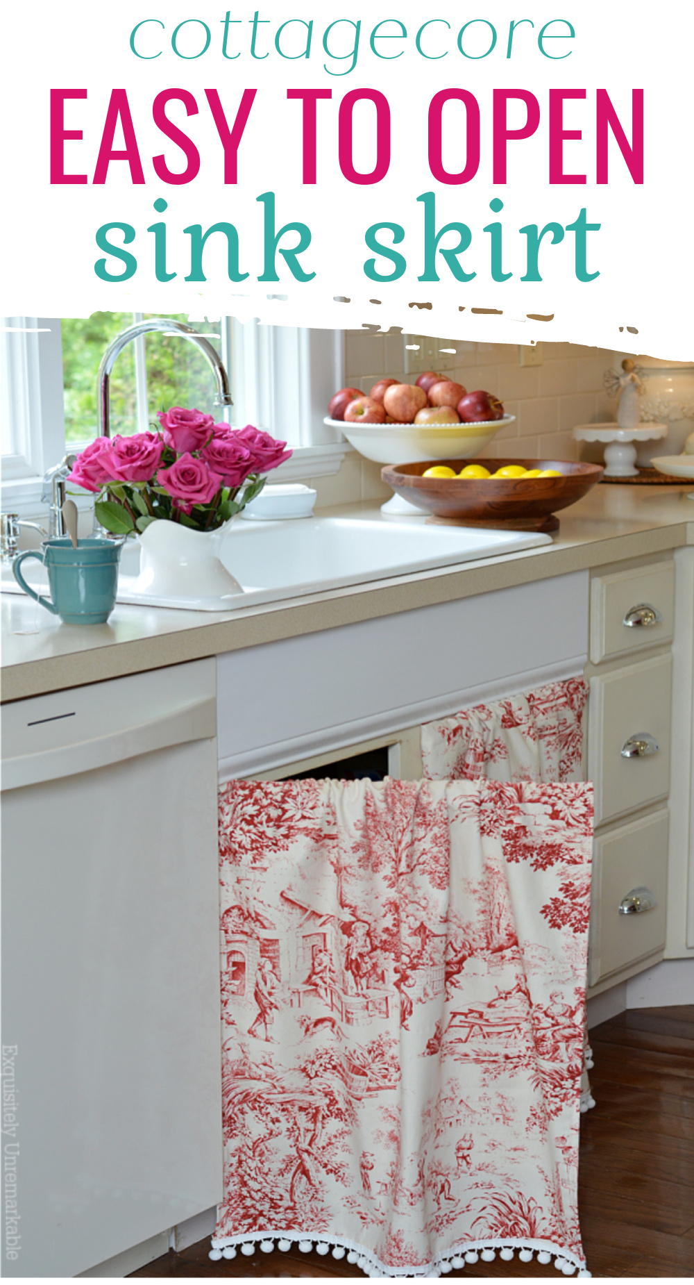 Easy To Open Sink Skirt cottagecore
