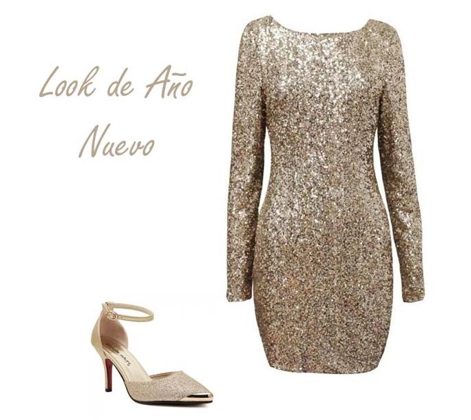 look gold dress año nuevo