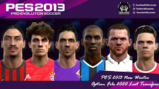 PES 2013 New Winter Option File 2020 Last Transfers