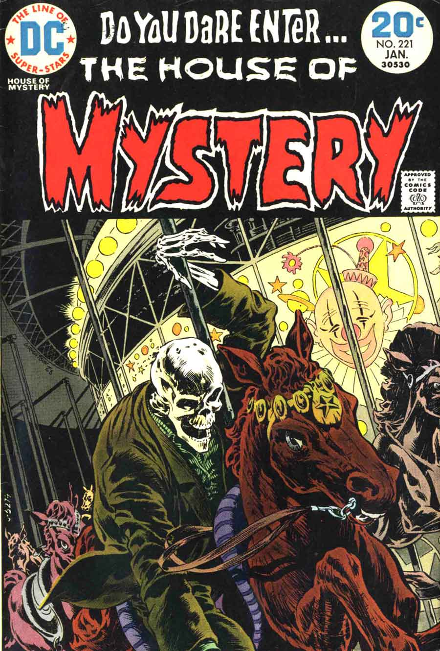 Bernie Wrightson dc bronze age horror 1970s comic book cover - House of Mystery #221